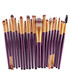 20pc purple make up brush set Sale - dynergy Sale
