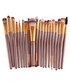 20pc Bronze-tone makeup brush set Sale - dynergy Sale