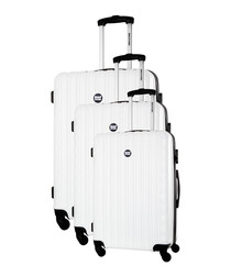 3pc Sweety white spinner suitcase nest