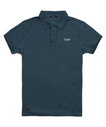 Petrol cotton polo shirt