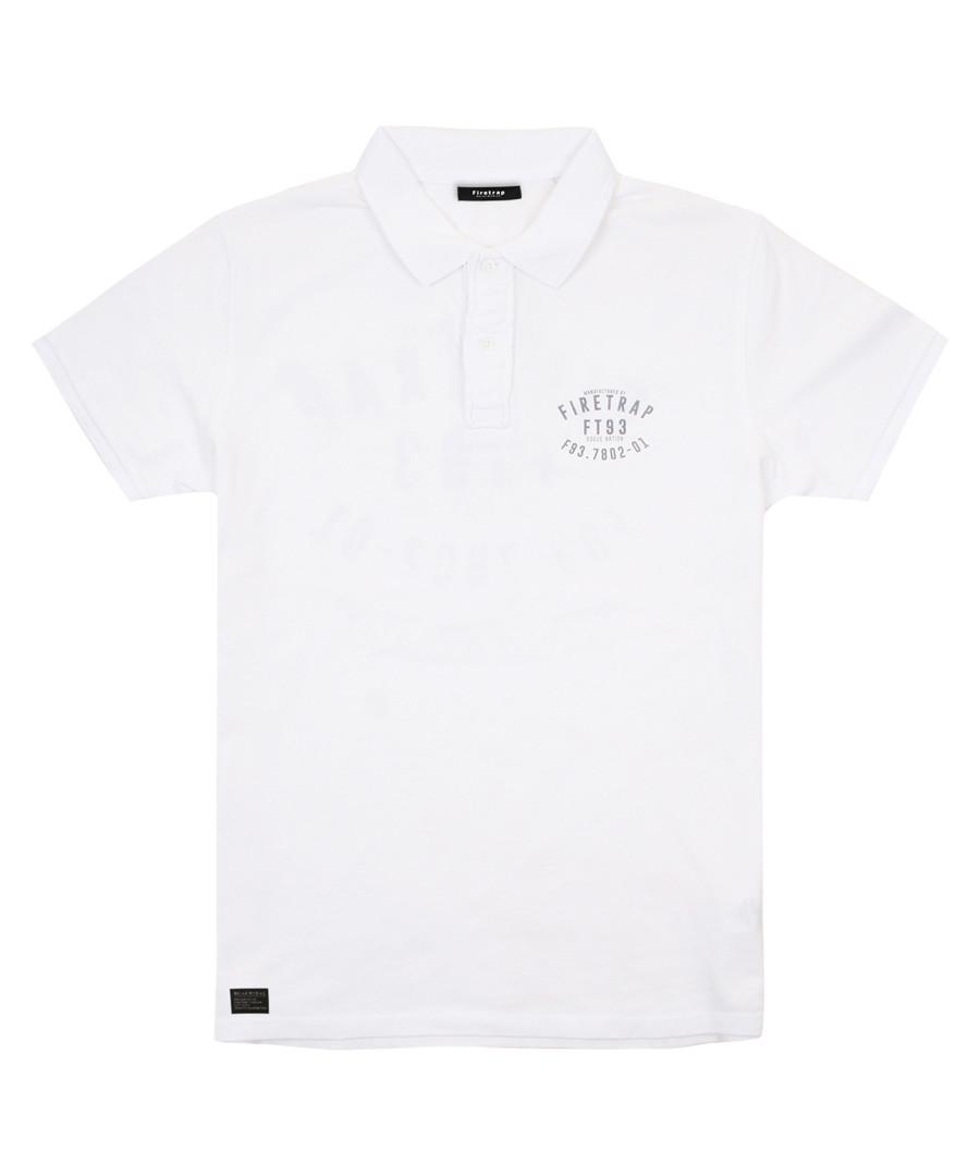 White cotton polo shirt Sale - firetrap