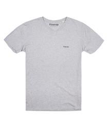 Heather grey pure cotton T-shirt