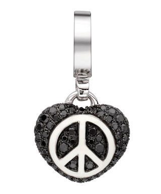 3d9685808f575d 18ct white gold diamond peace charm Sale - Theo Fennell Sale