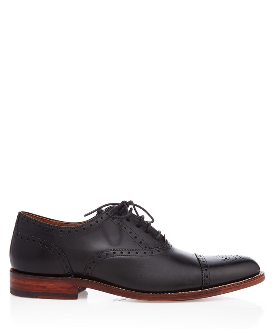 Men's black leather brogues Sale - Grenson