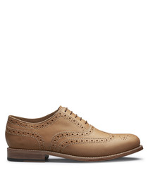 Men's cuoio leather brogues