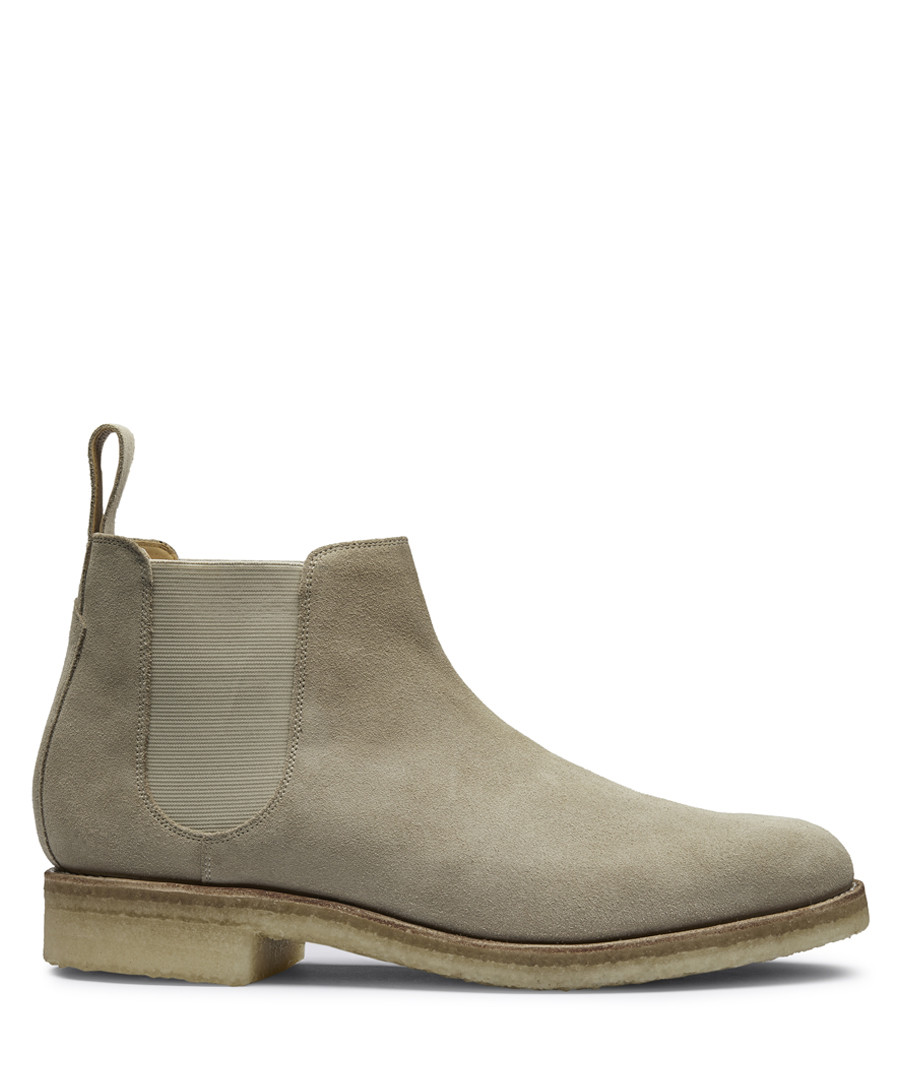 Men's beige leather Chelsea boots Sale - Grenson