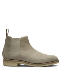 Men's beige leather Chelsea boots