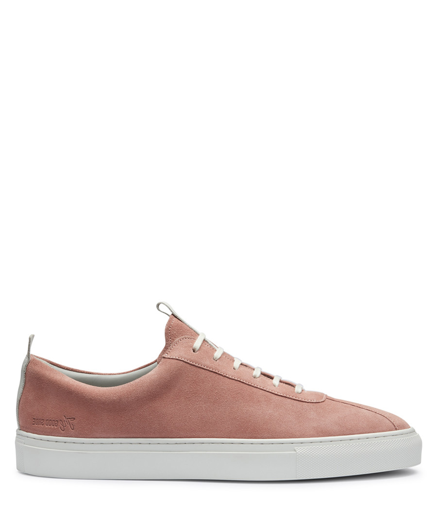 Men's peach leather sneakers Sale - Grenson