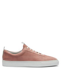 Men's peach leather sneakers