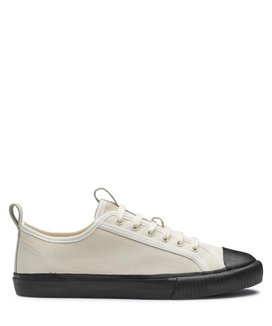 Ecru leather sneakers Sale - Grenson