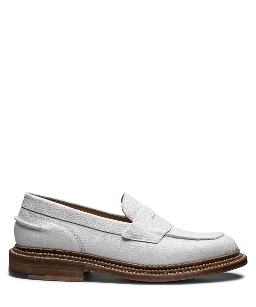 White leather loafers Sale - Grenson