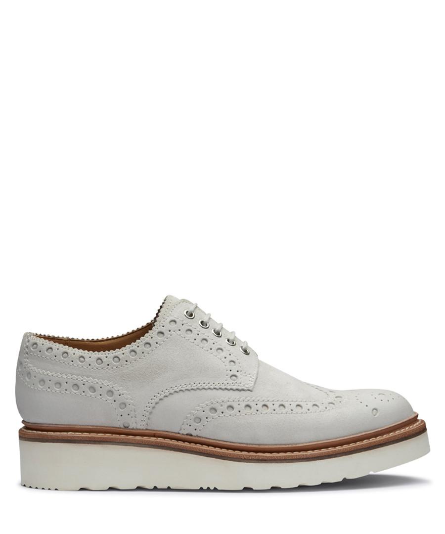 White leather platform brogues Sale - Grenson