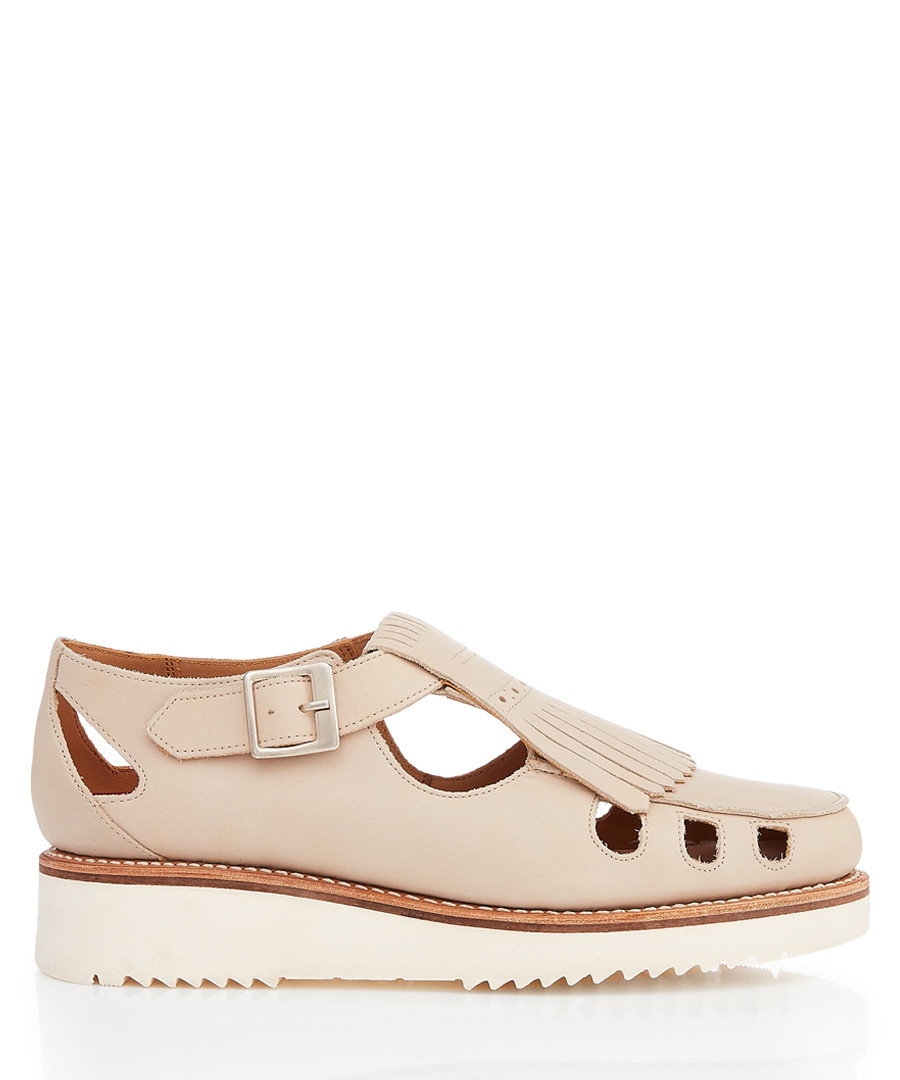 Women's natural leather cut-out sandals Sale - Grenson
