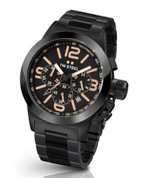 Canteen black stainless steel watch