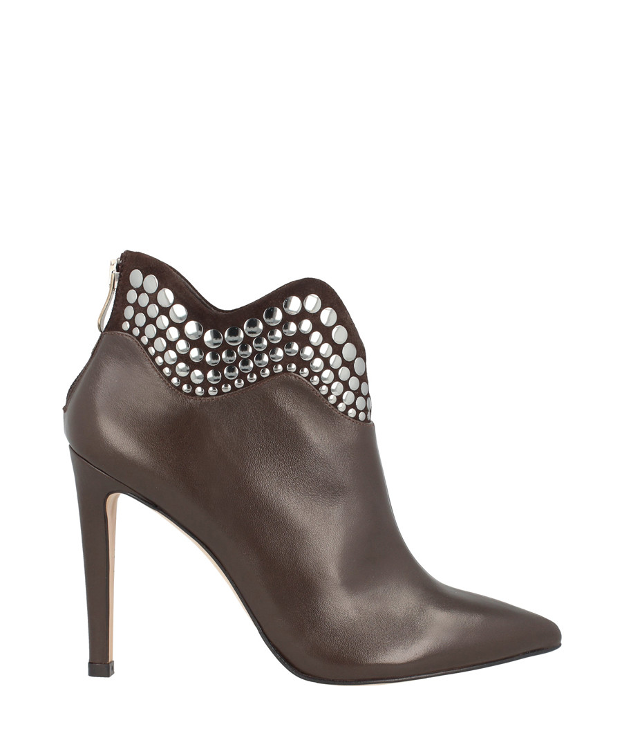 Brown leather detail ankle boots Sale - roberto botella