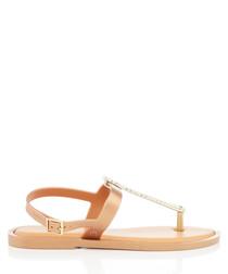 Star gold-tone slim sandals