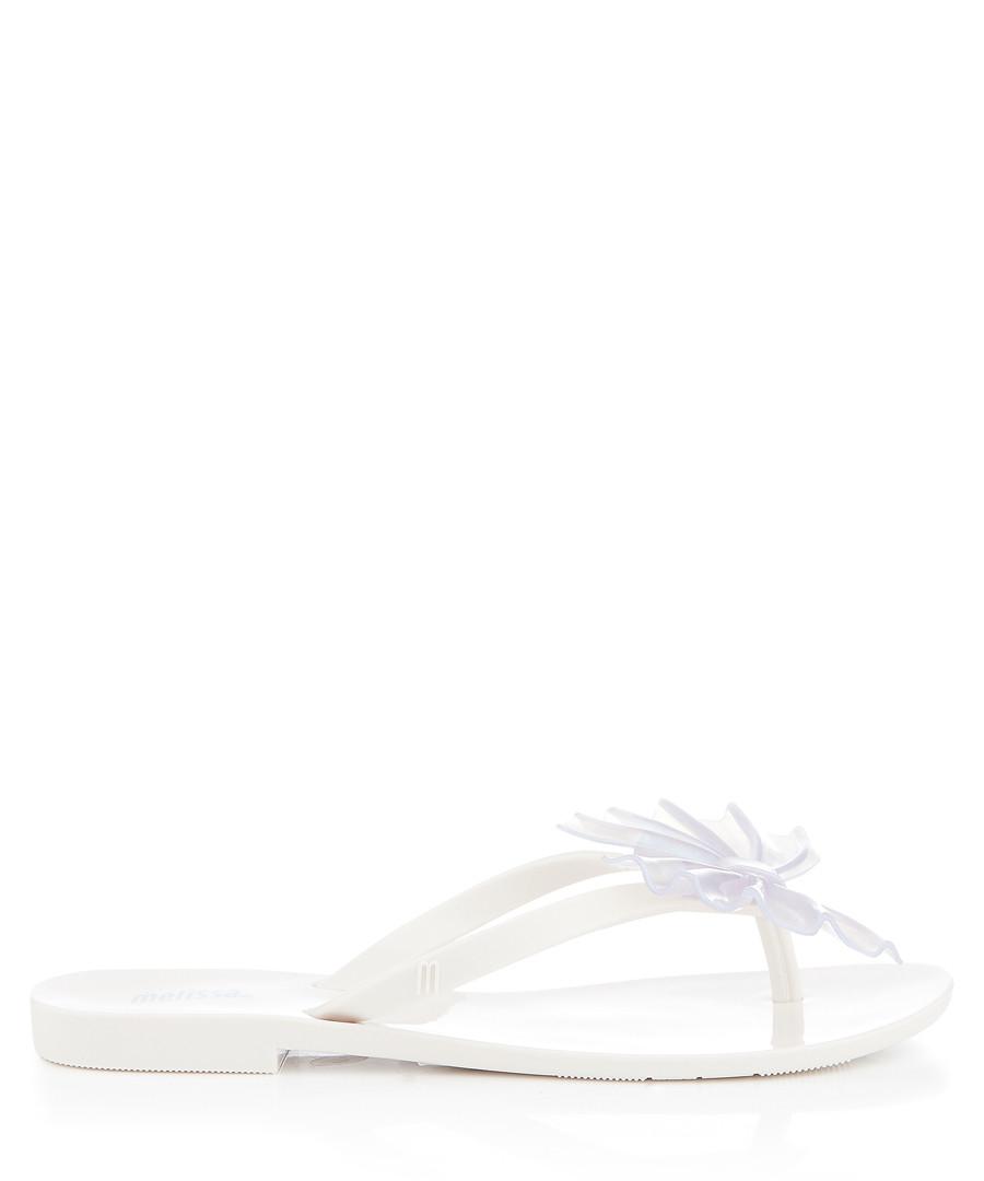 Harmonic Shimmer white fan flip flops Sale - melissa