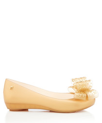 Ultra Girl Luxe gold-tone bow pumps