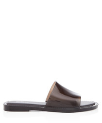 Soul 21 black slip-on sandals
