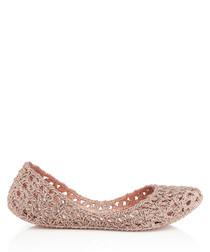 Campana Crochet rose glitter pumps