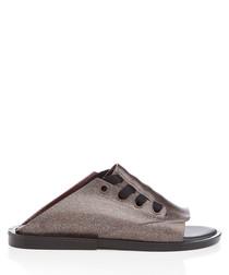 Ulitsa Splash glitter slip-on shoes