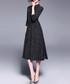 Black keyhole midi dress Sale - Kaimilan Sale