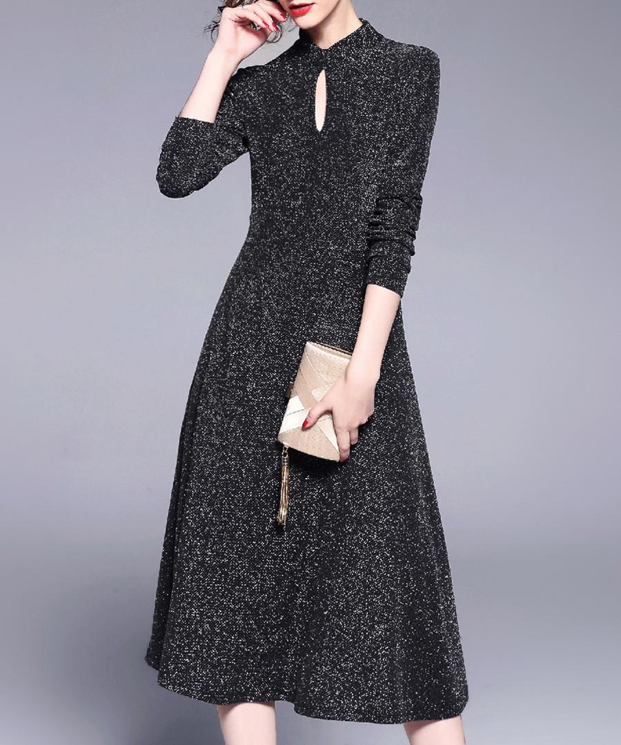 Black keyhole midi dress Sale - Kaimilan