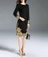 Black detailed cuff dress Sale - Kaimilan Sale
