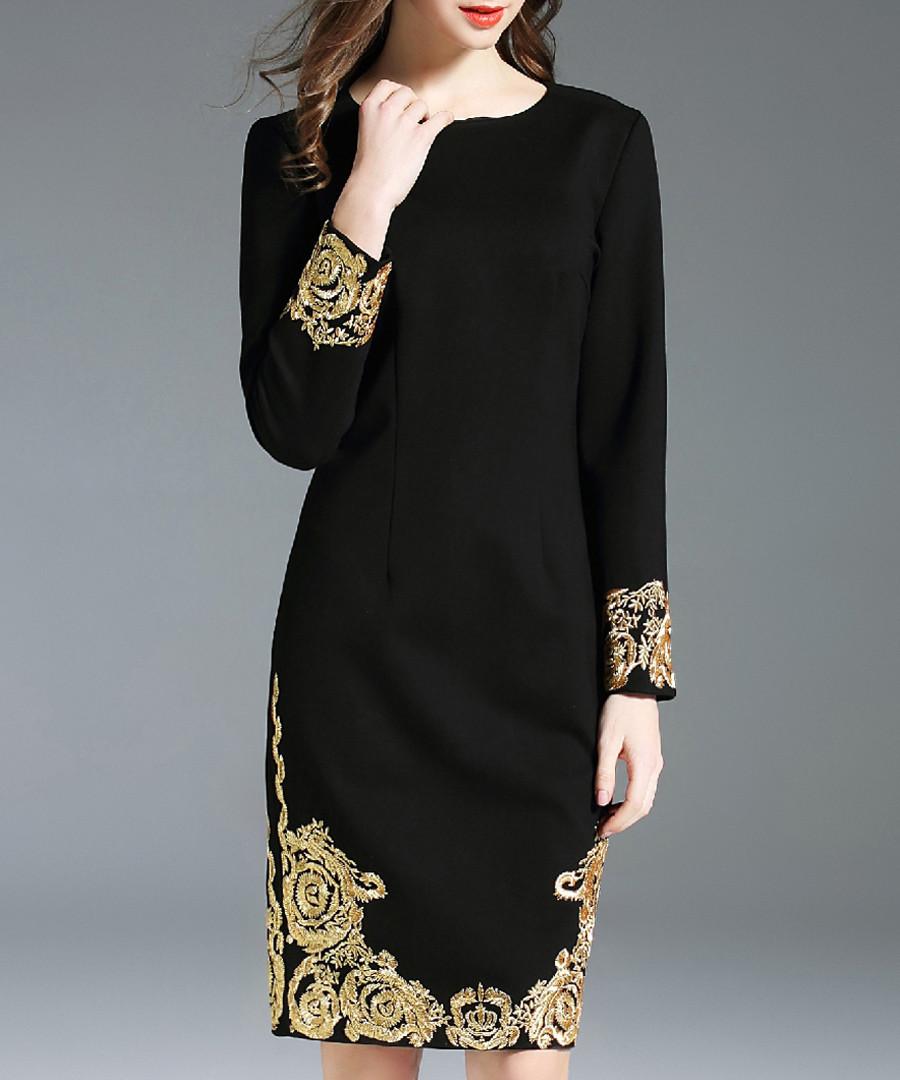 Black detailed cuff dress Sale - Kaimilan