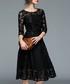 Black lace overlay midi dress Sale - Kaimilan Sale