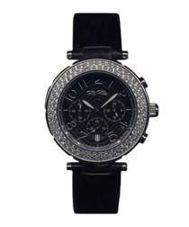 Bea black steel watch