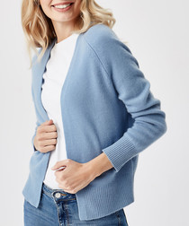 Royal blue pure cashmere cardigan