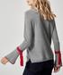 Silver & red pure cashmere jumper Sale - manode Sale