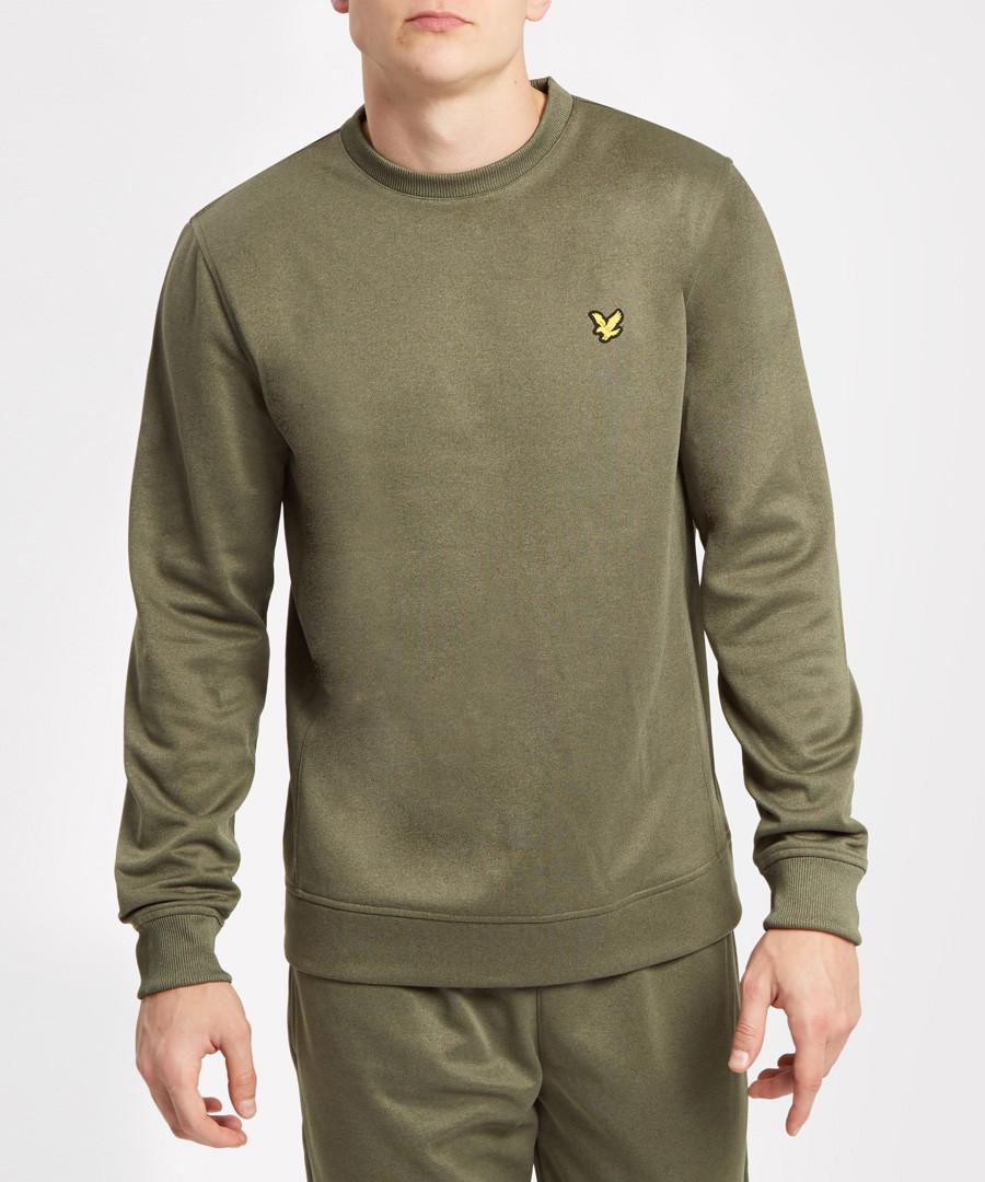 Olive marl logo sweatshirt Sale - Lyle & Scott