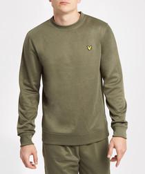 Olive marl logo sweatshirt