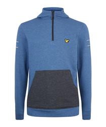 Longridge Kangaroo steel marl hoodie
