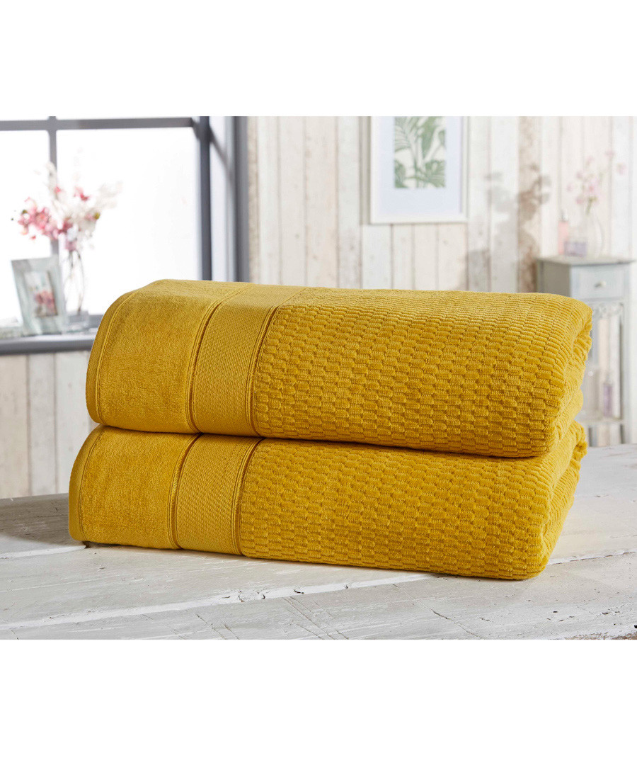 2pc ochre cotton bath sheet bale Sale - royal velvet