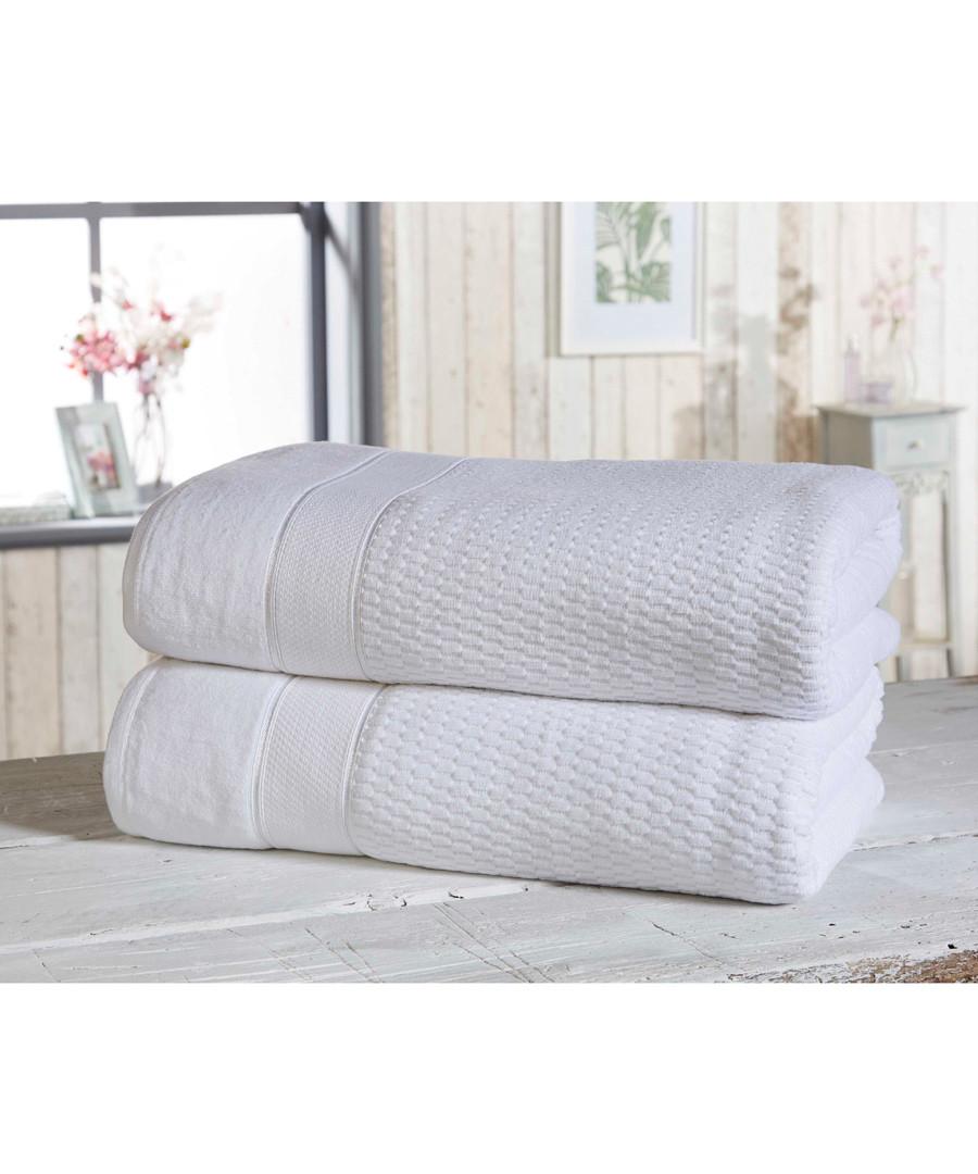 2pc white cotton bath sheet bale Sale - royal velvet