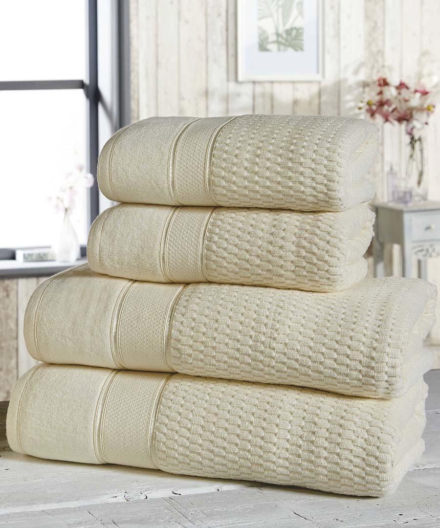 4pc cream cotton towel bale Sale - royal velvet