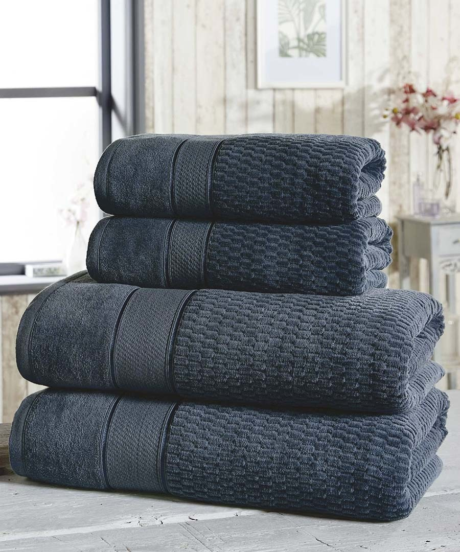 4pc denim cotton towel bale Sale - royal velvet
