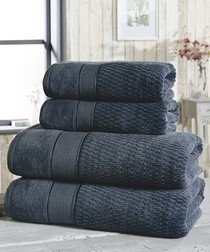 4pc denim cotton towel bale