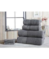 4pc grey cotton towel bale