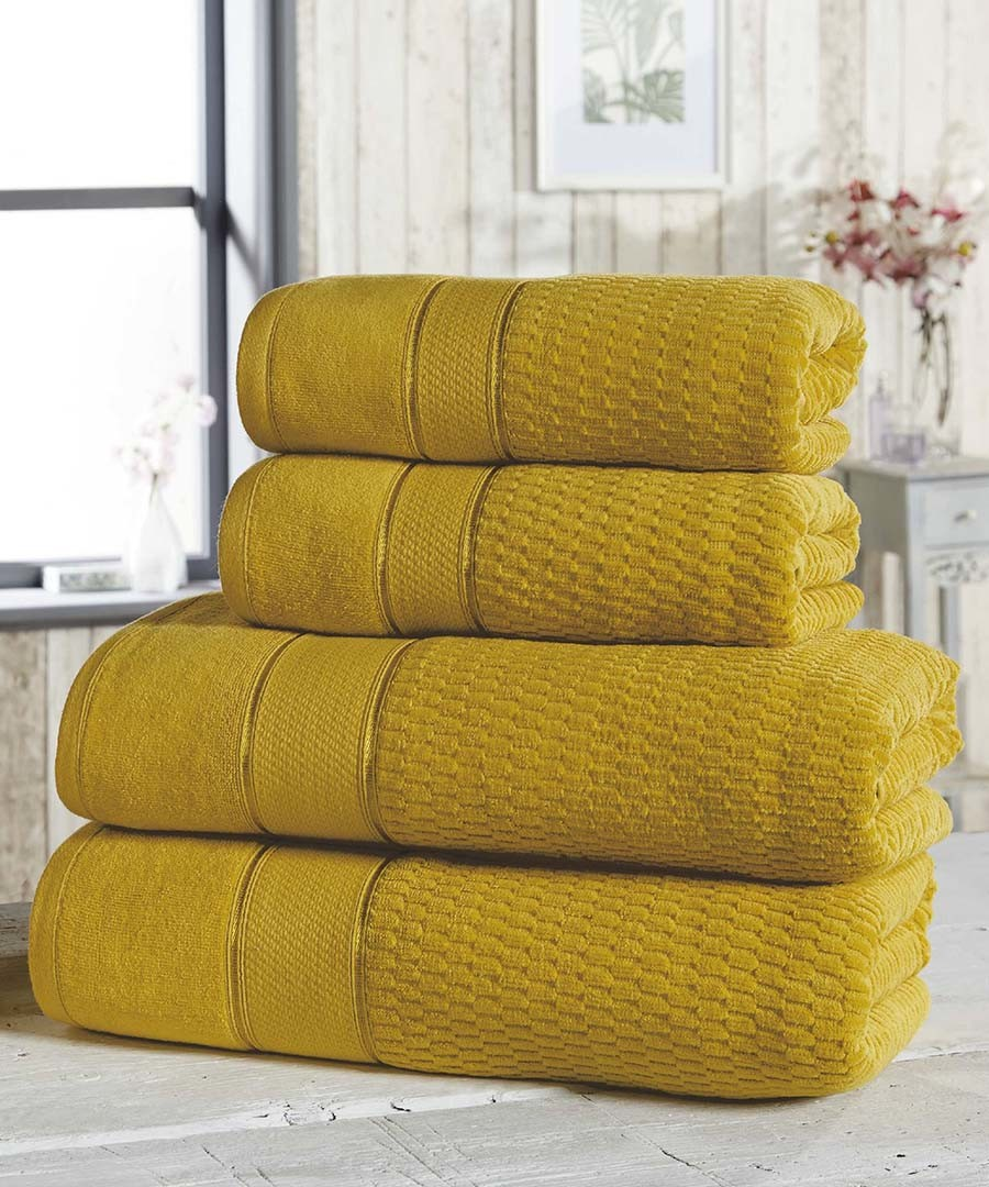 4pc ochre cotton towel bale Sale - royal velvet