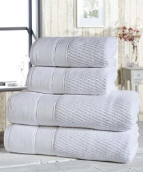 4pc white cotton towel bale