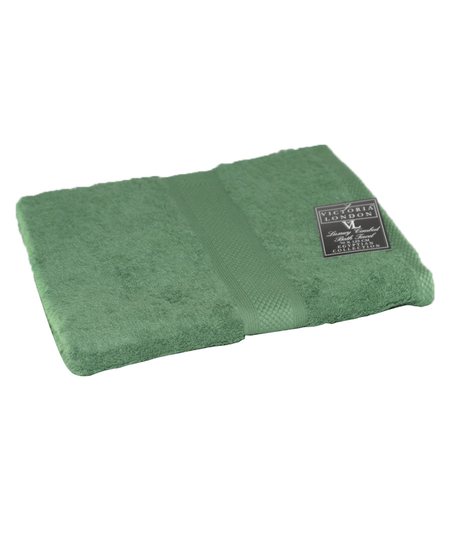 Green Egyptian cotton towel  Sale - elsatex