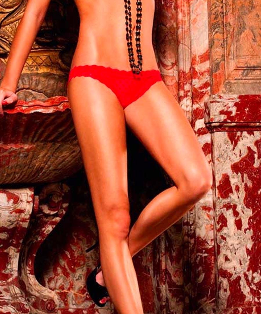 french cut heart mesh bikini brief  Sale - baci