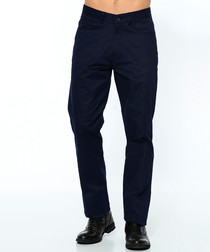 Navy pure cotton trousers