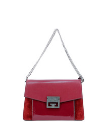 Cherrey red leather shoulder bag