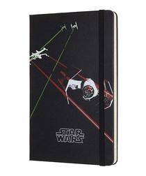 Star Wars black large ruled notebook