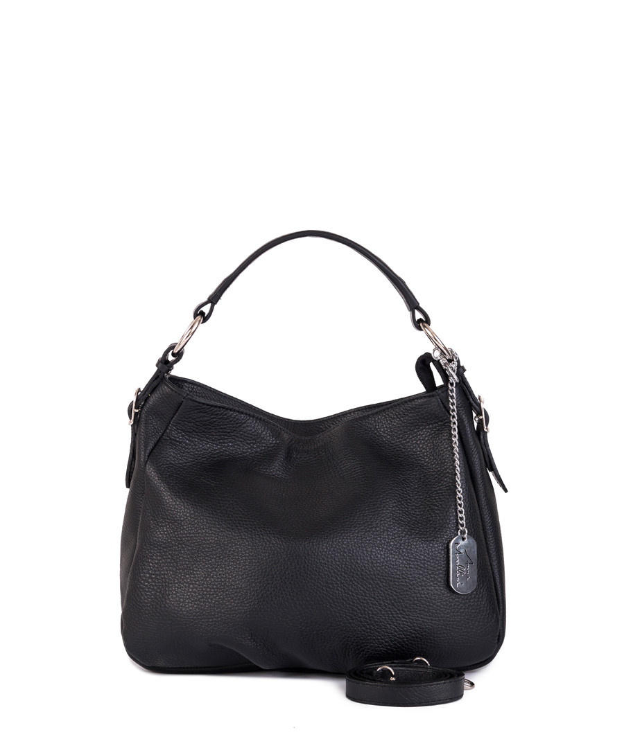Black leather shoulder bag Sale - anna morellini